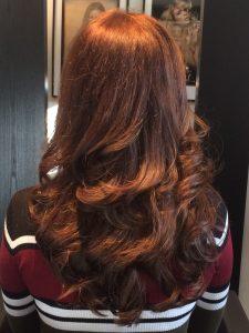 Resultaat na het plaatsen van hair extensions